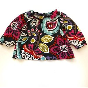 Carter's Girls Boho Floral Long Sleeve Tee Shirt
